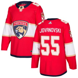 Authentic Adidas Youth Ed Jovanovski Red Home Jersey - NHL Florida Panthers