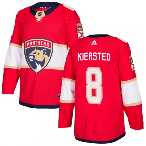 Authentic Adidas Youth Matt Kiersted Red Home Jersey - NHL Florida Panthers
