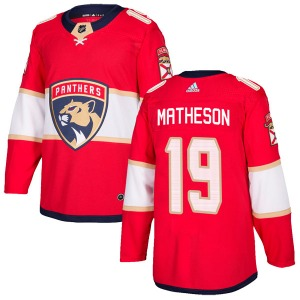 Authentic Adidas Youth Michael Matheson Red Home Jersey - NHL Florida Panthers
