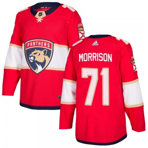 Authentic Adidas Youth Brad Morrison Red Home Jersey - NHL Florida Panthers