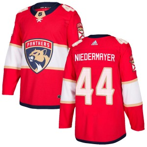 Authentic Adidas Youth Rob Niedermayer Red Home Jersey - NHL Florida Panthers