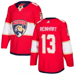Authentic Adidas Youth Sam Reinhart Red Home Jersey - NHL Florida Panthers