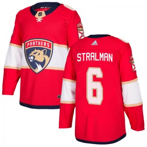 Authentic Adidas Youth Anton Stralman Red Home Jersey - NHL Florida Panthers