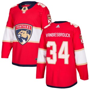 Authentic Adidas Youth John Vanbiesbrouck Red Home Jersey - NHL Florida Panthers