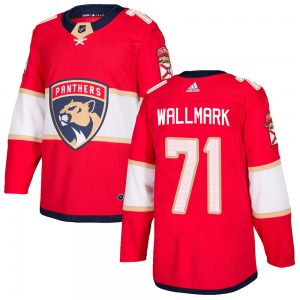 Authentic Adidas Youth Lucas Wallmark Red ized Home Jersey - NHL Florida Panthers
