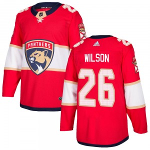 Authentic Adidas Youth Scott Wilson Red Home Jersey - NHL Florida Panthers