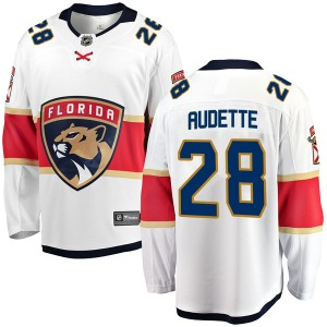 Breakaway Fanatics Branded Youth Donald Audette White Away Jersey - NHL Florida Panthers