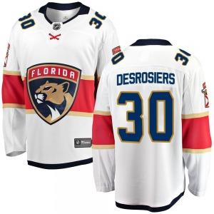 Breakaway Fanatics Branded Youth Philippe Desrosiers White ized Away Jersey - NHL Florida Panthers