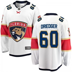 Breakaway Fanatics Branded Youth Chris Driedger White Away Jersey - NHL Florida Panthers