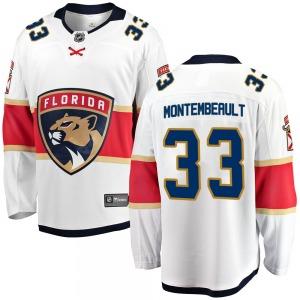 Breakaway Fanatics Branded Youth Sam Montembeault White Away Jersey - NHL Florida Panthers