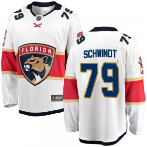 Breakaway Fanatics Branded Youth Cole Schwindt White Away Jersey - NHL Florida Panthers