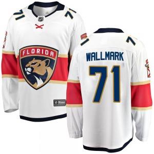 Breakaway Fanatics Branded Youth Lucas Wallmark White ized Away Jersey - NHL Florida Panthers