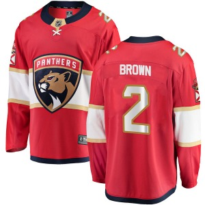 Breakaway Fanatics Branded Youth Josh Brown Red Home Jersey - NHL Florida Panthers