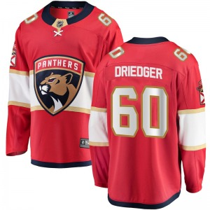 Breakaway Fanatics Branded Youth Chris Driedger Red Home Jersey - NHL Florida Panthers