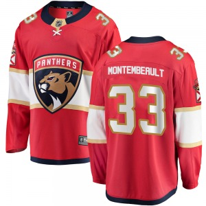 Breakaway Fanatics Branded Youth Sam Montembeault Red Home Jersey - NHL Florida Panthers