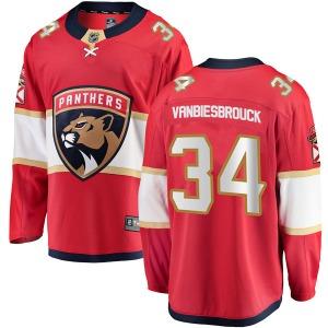 Breakaway Fanatics Branded Youth John Vanbiesbrouck Red Home Jersey - NHL Florida Panthers