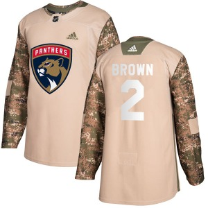 Authentic Adidas Youth Josh Brown Brown Camo Veterans Day Practice Jersey - NHL Florida Panthers