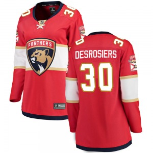 Breakaway Fanatics Branded Women's Philippe Desrosiers Red ized Home Jersey - NHL Florida Panthers