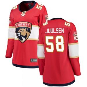 Breakaway Fanatics Branded Women's Noah Juulsen Red Home Jersey - NHL Florida Panthers