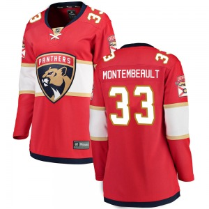 Breakaway Fanatics Branded Women's Sam Montembeault Red Home Jersey - NHL Florida Panthers