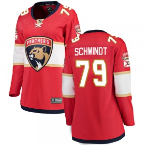 Breakaway Fanatics Branded Women's Cole Schwindt Red Home Jersey - NHL Florida Panthers