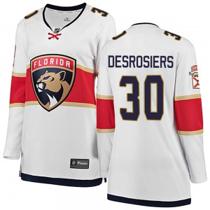 Breakaway Fanatics Branded Women's Philippe Desrosiers White ized Away Jersey - NHL Florida Panthers